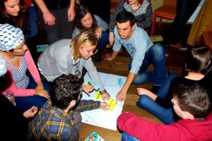 Euroopa vabatahtliku teenistus vabatahtlikud koolitusel